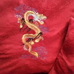 Oriental dragon free embroidery design