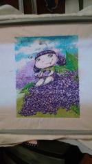 Violet fairy photo stitch free embroidery
