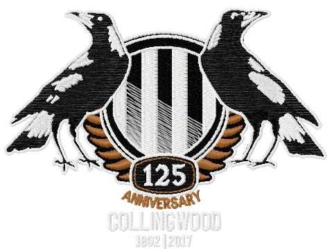 Collingwood Football Club logo embroidery design