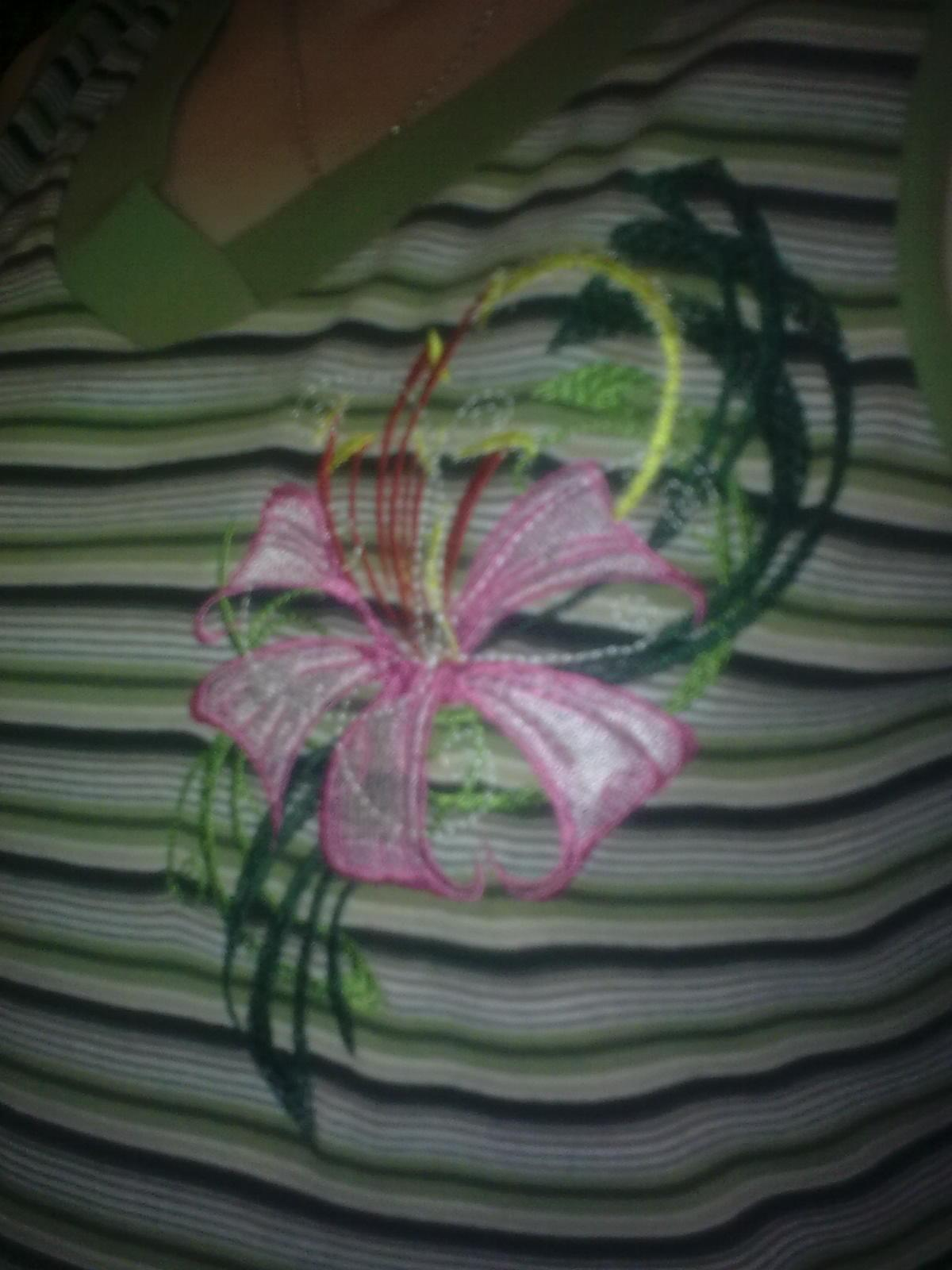Shirt with Flower Firework embroidery design