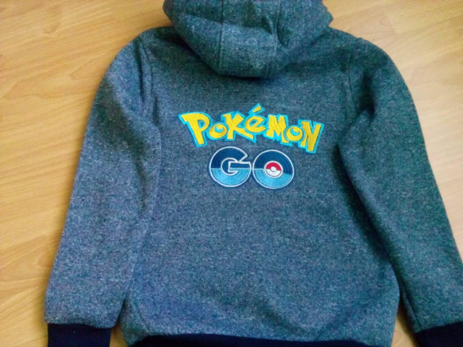fleece jacket with Pokemon Go logo embroidery design