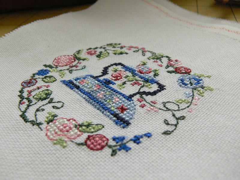 Iron cross stitch free machine embroidery design