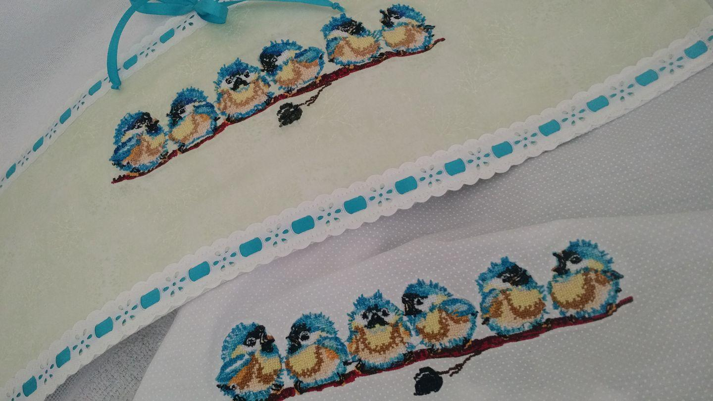 Small birds cross stitch free embroidery design