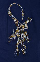 Lizard free machine embroidery design