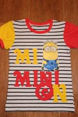 Baby shirt with with Minion embroidery design