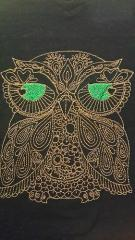 Owl redwork free embroidery design