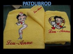 Towels with Betty Boop machine embroidery designs