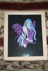 Fairy machine embroidery design
