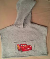 Hoodie with Lightning McQueen embroidery design