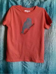 T-shirt with Mosaic bird embroidery design