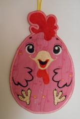 Potholder with rooster kitchen potholder free machine embroidery design