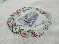 Thimble cross stitch embroidery design