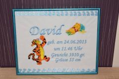 Framed Winnie the pooh and friends embroidery design