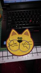Placement with Cat free applique embroidery design