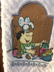 Chef cross stitch free embroidery design