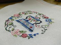Iron cross stitch free machine embroidery design