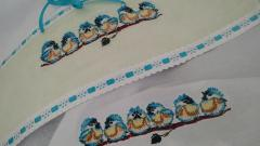Small birds cross stitch free embroidery design