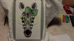 Zebra glasses in hoop free embroidery design