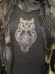 summer shirt with owl blend free embroidery design