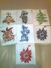 Towels with Christmas free embroidery design