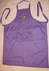 Kitchen apron with Brigitte Kitty embroidery design
