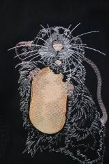 Rat free embroidery design
