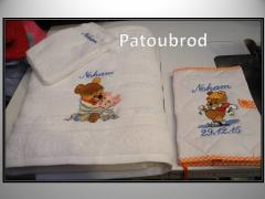 Newborn set with Baby Pooh embroidery designs