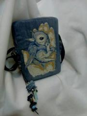 Handbag with Dragon in my hand embroidery design