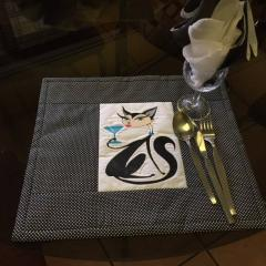 Carpet with glamour Kitty relax machine embroidery design