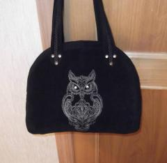 Bag with Owl blend free embroider design