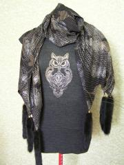 Fashion shirt with Owl blend free embroidery design