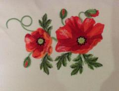 Poppies machine embroidery design