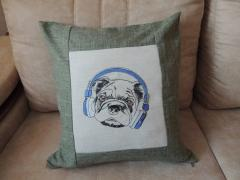Stylish pug dog machine embroidery design