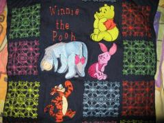 Cushion with Winnie Pooh and Friends embroidery designs