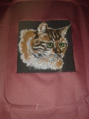 Cat photo stitch free embroidery design