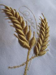 Gold wheat free embroidery design