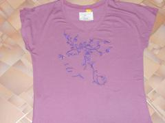 Shirt with woman butterfly free embroidery design