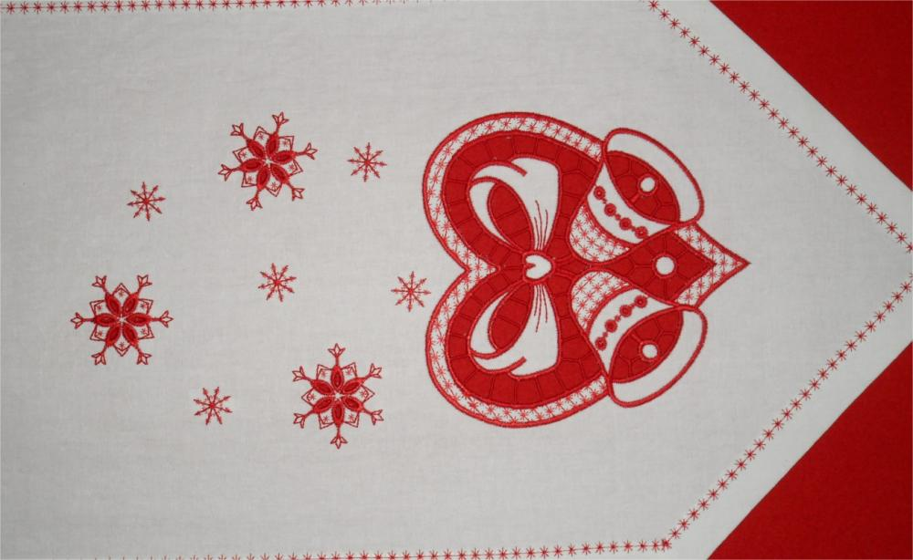 Christmas small carpet with free embroidery