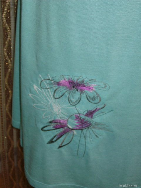 Shirt with Flowers free embroidery design
