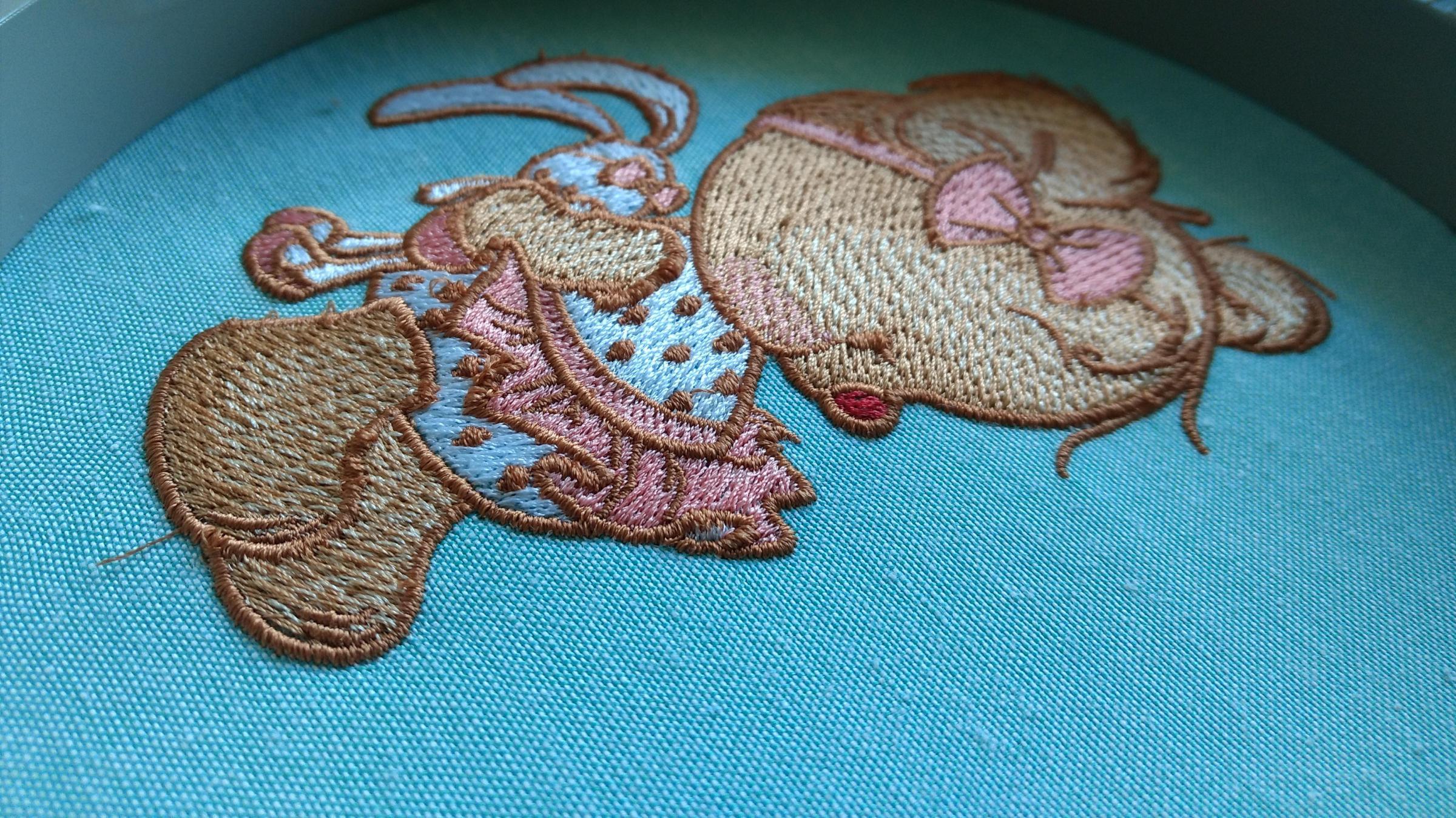 In hoop cute teddy bear embroidery design - Teddy bear