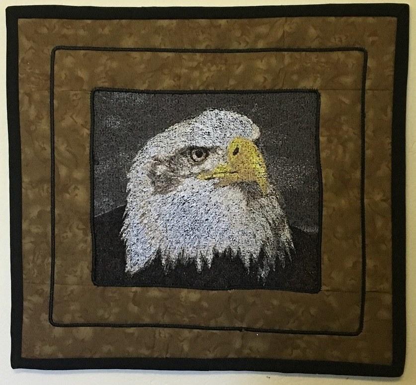 Eagle photo stitch free embroidery design