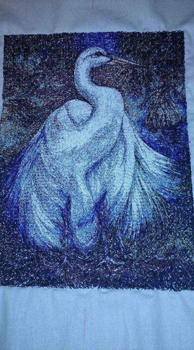 Stork photo stitch free embroidery design