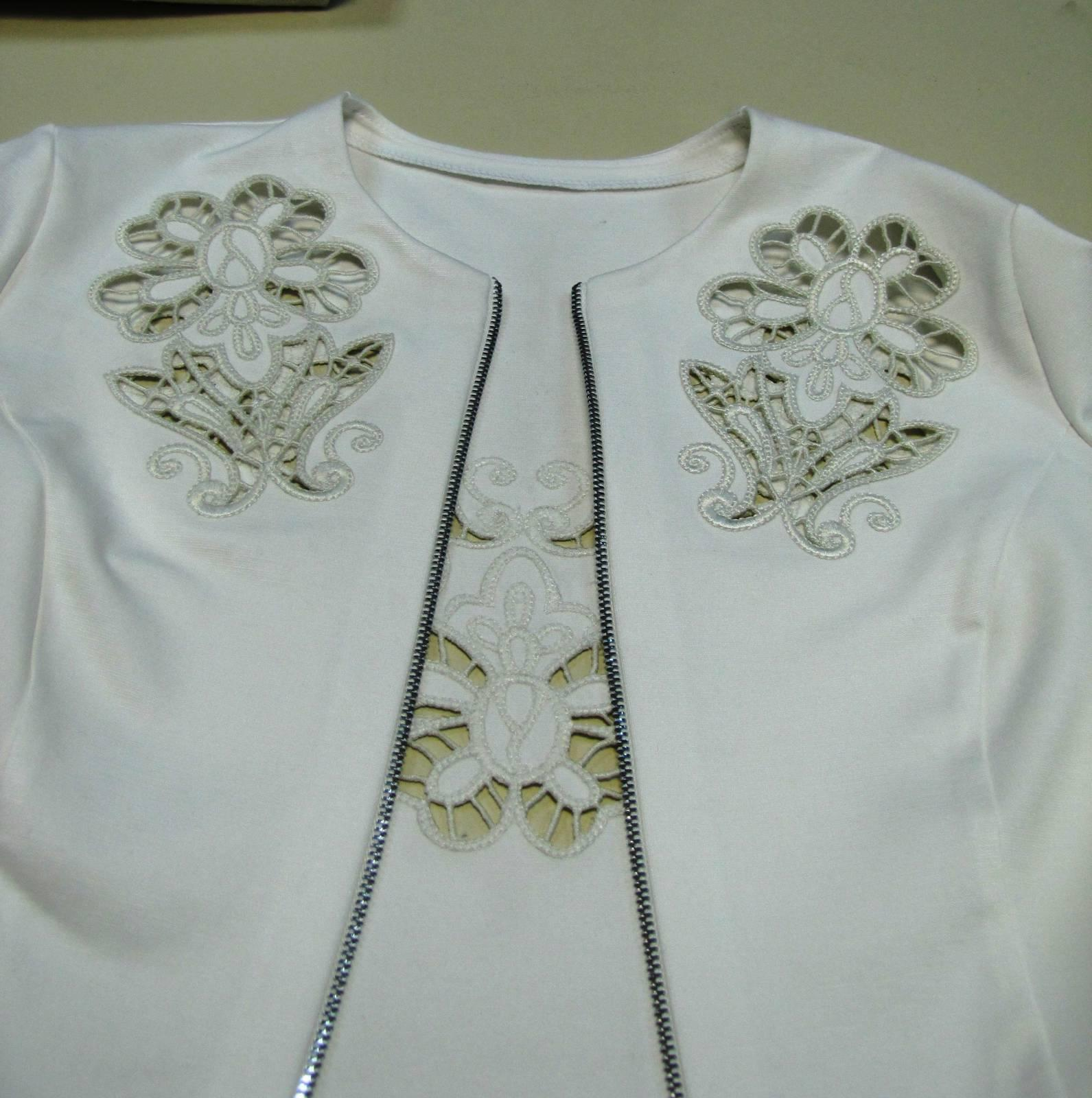Woman S Jacket With Lace Free Machine Embroidery Design Embroidery