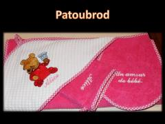 Baby envelope Baby Pooh  embroidery design