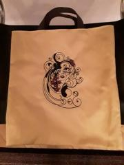 Shopping bag with Spring is always in the heart free embroidery design