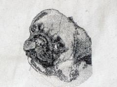 Free Pug machine embroidery design