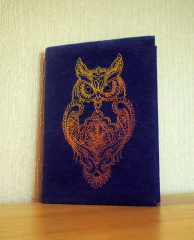 Book cover with Owl blend free embroidery design