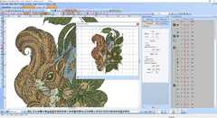 Squirrel embroidery Wilcom screenshot
