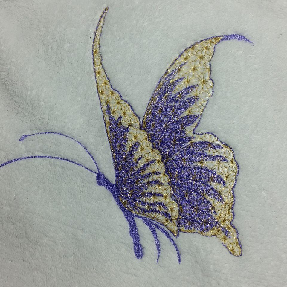 Butterfly machine embroidery design