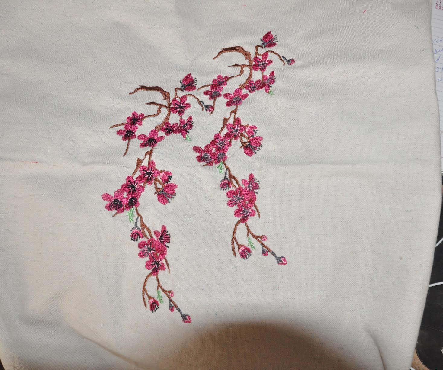Sakura free embroidery design
